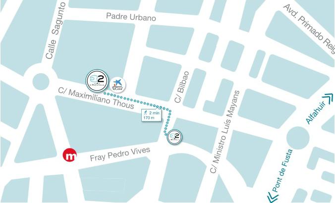 Mapa clínica dental Dr. Vicente Pascual